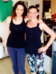 Me pictured here with cycling Instructor, Joanna Perlmutter